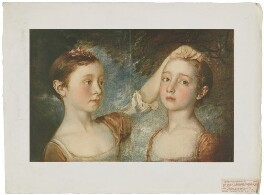 'The Painter's Two Daughters' (Mary Fischer (née Gainsborough); Margaret Gainsborough), published by The Medici Society Ltd, after  Thomas Gainsborough - NPG D34267