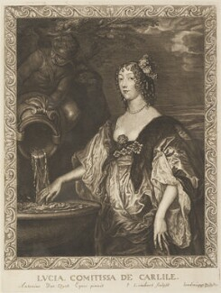 Lucy Hay (née Percy), Countess of Carlisle, by Pierre Lombart, after  Sir Anthony van Dyck - NPG D34303