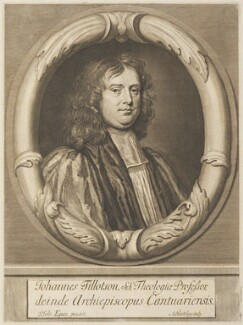 John Tillotson, by Abraham Blooteling (Bloteling), after  Sir Peter Lely - NPG D34304
