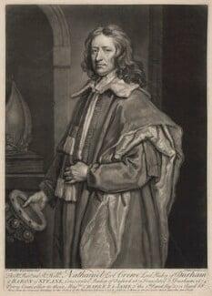 Nathaniel Crew, 3rd Baron Crew, by John Faber Jr, after  Sir Godfrey Kneller, Bt - NPG D34242