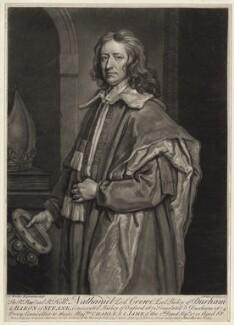 Nathaniel Crew, 3rd Baron Crew, by John Faber Jr, after  Sir Godfrey Kneller, Bt - NPG D34243