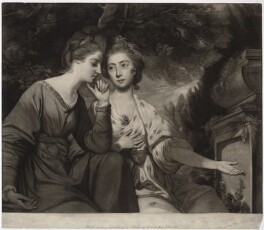 Harriet Bouverie (née Fawkener, later Lady Robert Spencer); Frances Anne Crewe (née Greville), Lady Crewe, by Giuseppe Filippo Liberati ('Joseph') Marchi, after  Sir Joshua Reynolds - NPG D34308
