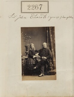 Edith Mary Thorold; Sir John Charles Thorold, 11th Bt, by Camille Silvy, 28 February 1861 - NPG Ax51655 - © National Portrait Gallery, London