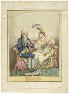 'The Bulstrode siren' (William Henry Cavendish Bentinck, 3rd Duke of Portland; Elizabeth Billington (née Weichsel)), published by John Miller, published by  William Blackwood, after  James Gillray - NPG D34317