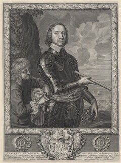 Oliver Cromwell, by Pierre Lombart, after  Robert Walker - NPG D34319
