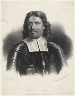 Oliver Cromwell, by H.F. (or F.H.) Weisse, published by  Schenck & McFarlane - NPG D34322