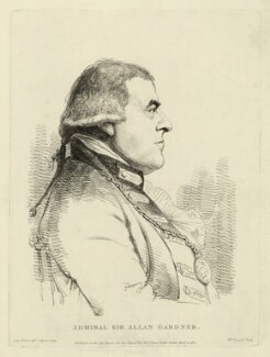 Alan Gardner, 1st Baron Gardner, by William Daniell, published by and after  George Dance - NPG D34278