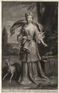 Elizabeth Southwell (née Cromwell), Lady Cromwell, by and published by John Smith, after  Sir Godfrey Kneller, Bt - NPG D34363