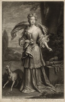 Elizabeth Southwell (née Cromwell), Lady Cromwell, by and published by John Smith, after  Sir Godfrey Kneller, Bt - NPG D34364