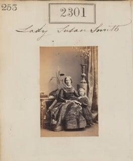 Lady Susan Emma Smith (née Pelham); Evelyn Mary Smith, by Camille Silvy - NPG Ax51689