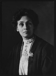 Emmeline Pankhurst, by Elliott & Fry, copied by  Bassano Ltd, copied 9 June 1965 (circa 1910) - NPG  - © National Portrait Gallery, London
