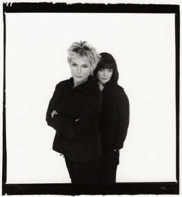 Jennifer Saunders; Dawn French as 'French and Saunders', by Trevor Leighton, 2000 - NPG  - © Trevor Leighton / National Portrait Gallery, London