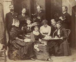 Emily Storey (née Hayward) and George Adolphus Storey with family and friends, by Unknown photographer - NPG x22271