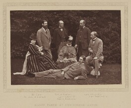 'Group taken at Hughenden Manor', by Henry William Taunt & Co, published by  A.W. Cowan, 1874, published 1881 - NPG Ax27804 - © National Portrait Gallery, London