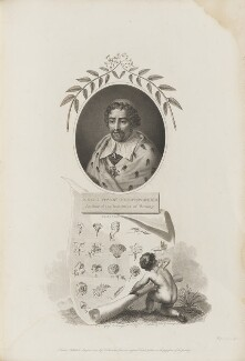 Joseph Pitton de Tournefort with 'A Zephyr disclosing to an astonished world, the System of Tournefort', by William Hopwood, published by  Robert John Thornton - NPG D34355