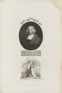 John Ray with 'Britannia crowning Ray as the Prince of English Botanists', by William Holl Sr, published by  Robert John Thornton, after  Thomas Uwins, and after  Unknown artist - NPG D34356