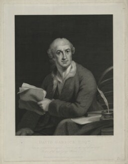 David Garrick, by William Skelton, published by  Colnaghi & Co, after  Robert Edge Pine - NPG D34377