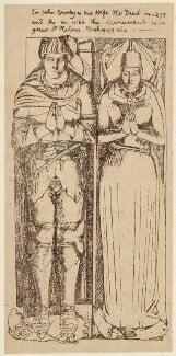 Sir John Crosby; Agnes Crosby, by Unknown artist - NPG D34400