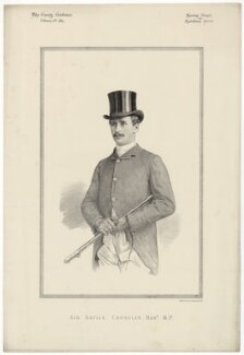 Savile Brinton Crossley, 1st Baron Somerleyton, printed by Vincent Brooks, Day & Son, after  Unknown artist - NPG D34407