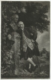 David Garrick, by Valentine Green, published by  John Boydell, after  Thomas Gainsborough - NPG D34384