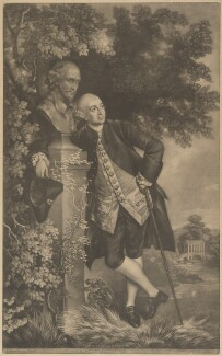 David Garrick, by Valentine Green, published by  John Boydell, after  Thomas Gainsborough - NPG D34385