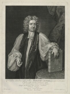 Francis Gastrell, by George Vertue, after  Michael Dahl - NPG D34388