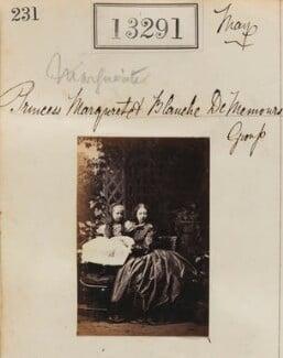 Princess Blanche d'Orléans; Princess Marguerite Adelaide d'Orleans, by Camille Silvy - NPG Ax62924
