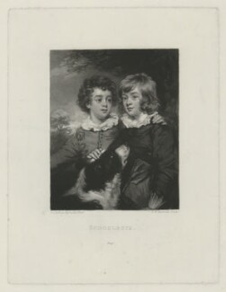 'Schoolboys' (Henry Gawler; John Bellenden Gawler (later Ker), by Samuel William Reynolds, after  Sir Joshua Reynolds - NPG D34390