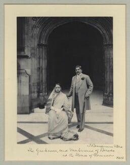 Chimnabai II, Maharani of Baroda; Sir Sayaji Rao III, Maharaja of Baroda, by Sir (John) Benjamin Stone, 5 July 1905 - NPG x36466 - © National Portrait Gallery, London