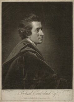Richard Cumberland, by Valentine Green, published by  John Boydell, after  George Romney - NPG D34423