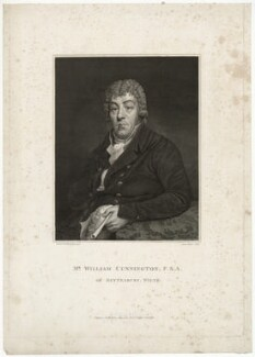 William Cunnington, by James Basire, after  Samuel Woodforde - NPG D34432