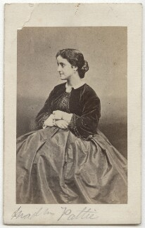 Adelina Patti, after Mayer & Pierson, 1860s - NPG x12686 - © National Portrait Gallery, London