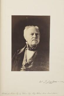 Walter Savage Landor, by Herbert Watkins, late 1850s - NPG Ax7918 - © National Portrait Gallery, London