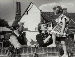 Henry Moore; Irina Anatolia Moore (née Radetzki); Mary Moore, by Felix H. Man - NPG x132449