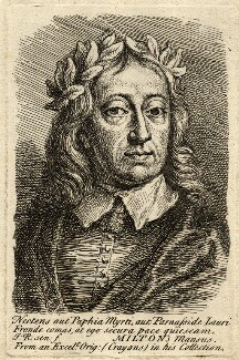 John Milton, by Jonathan Richardson, after a portrait attributed to  William Faithorne - NPG D9371