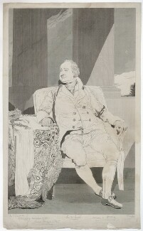 Sir William Curtis, 1st Bt, by William Sharp, after  Sir Thomas Lawrence - NPG D34477