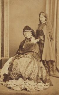 Georgina Aïdá (née Collier); (Alice) Elsie Tennant, by Unknown photographer, 1860s - NPG Ax68308 - © National Portrait Gallery, London