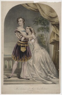 Charlotte Saunders Cushman; Susan Cushman as Romeo and Juliet, by Thomas Fairland, published by  Thomas McLean, after  Margaret Gillies, 1840s - NPG  - © National Portrait Gallery, London