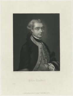 Felice Giardini, by Charles Algernon Tomkins, published by  Henry Graves & Co, after  Thomas Gainsborough - NPG D34448
