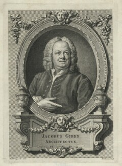 James Gibbs, by Bernard Baron, after  William Hogarth, 1747 - NPG D34450 - © National Portrait Gallery, London