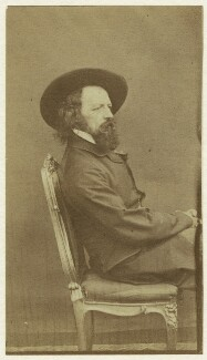 Alfred, Lord Tennyson, by William Jeffrey, early 1860s - NPG x12998 - © National Portrait Gallery, London