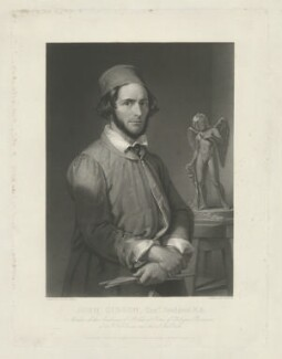 John Gibson, by Charles Edward Wagstaff, published by  Paul and Dominic Colnaghi & Co, after  Penry Williams - NPG D34459
