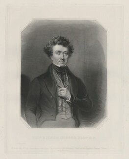 Thomas Milner Gibson, by Samuel William Reynolds Jr, printed by  Brooker & Harrison, published by  Thomas Agnew, published by  Rudolph Ackermann Jr, published by  Anaglyphic Company, after  Charles Allen Duval - NPG D34465