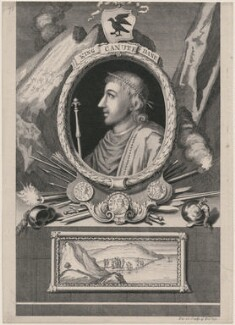 Canute or Cnut 'the Great', by George Vertue - NPG D9367