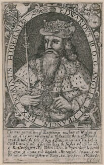 Called King Edward III, by Renold or Reginold Elstrack (Elstracke), published 1638 (1618) - NPG D9383 - © National Portrait Gallery, London