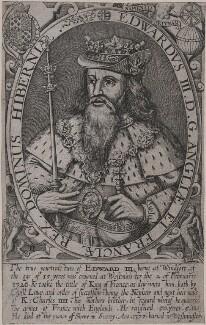 Called King Edward III, by Renold or Reginold Elstrack (Elstracke), published 1618 - NPG D9384 - © National Portrait Gallery, London
