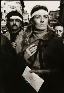 Tariq Ali; Vanessa Redgrave, by John Walmsley, 27 October 1968 - NPG x6394 - © John Walmsley