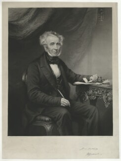 James William Gilbart, by George Zobel, after  Thomas Richard Williams - NPG D34470
