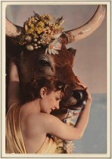 Violet, Baroness von Gagern as Europa, by Madame Yevonde, 1935 - NPG  - © Yevonde Portrait Archive