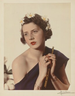 Mary Gwendoline (née Foster), Lady Forwood ('Mary, Viscountess Ratendone as Euterpe'), by Madame Yevonde, 1935 - NPG  - © National Portrait Gallery, London